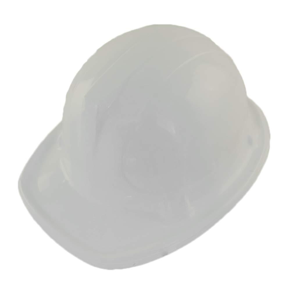 Windy City Novelties White Plastic Construction Hard Hats - 12 Pack by Windy City Novelties