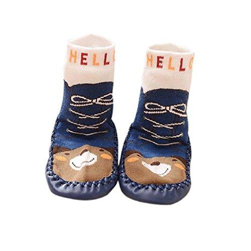 Vovotrade Baby Boys Girls Kids Cute Cartoon Toddler Anti slip Sock Shoes Boots Slipper Socks Age 0 6 18 24 months