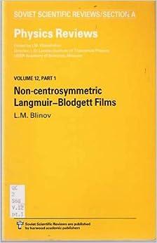 Non-Centrosymmetric Langmuir-Blodgett Films (Soviet