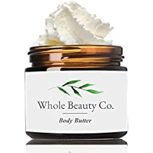 Organic Shea Butter Body Lotion: Best Therapeutic Grade Essential Oil Cream Moisturizer With Pure Raw Organic Natural Ingredients. Moisturize Dry Skin, Eczema & Stretch Mark With Whipped African Balm