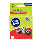 Glue Dots Double-Sided Craft Dots, 1/2'', Clear