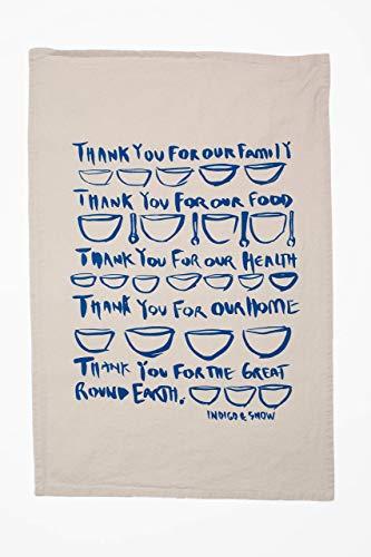 - Giving Thanks/Set of 3 Flour Sack Tea Towels