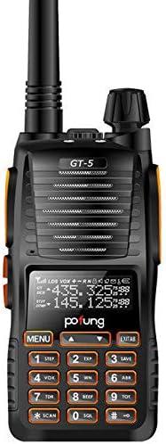 Baofeng Pofung GT-5 Dual Band VHF UHF Two-Way Radio Transceiver with Dual PTT 1 2000mAh Li-ion Battery