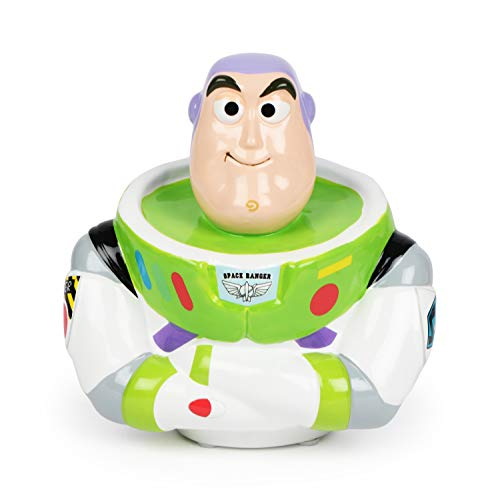 FABNY Buzz Lightyear Figural Coin Bank Toy Story 4 Money Ceramic 3D (Character Bank Disney)