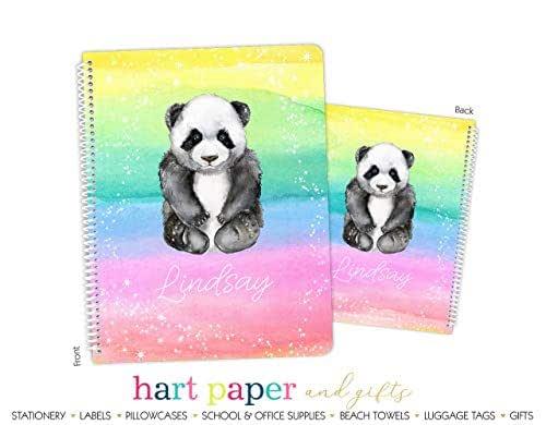 Amazon.com: Personalized Rainbow Panda Bear Spiral Bound