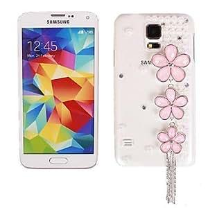 MOFY- Cristalina hermosa Dimond y colorido de la caja dura cristalina de la flor para Samsung Galaxy i9600 S5