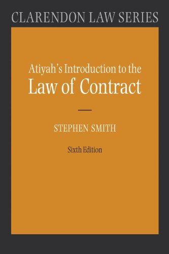Atiyah's Introduction to the Law of Contract (Clarendon Law Series)