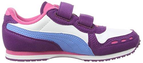 Puma Cabana Racer SL V Kids - Zapatillas infantil Violeta - Violett (grape juice-white-marina blue 38)