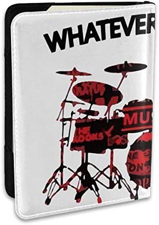 ドラム Music Rock パスポートケース パスポートカバー メンズ レディース パスポートバッグ ポーチ 収納カバー PUレザー 多機能収納ポケット 収納抜群 携帯便利 海外旅行 出張 クレジットカード 大容量