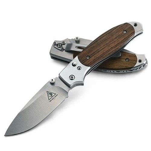Lone Wolf Ridge Top Folding Knife with Plain-Edged Blade (Silver, 7.26-Inch), Outdoor Stuffs