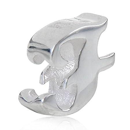 Lettre Charms lettres de lalphabet A-Z Initiale Argent sterling 925/Perles Compatible avec europ/éenne Serpent Bracelet cha/îne R