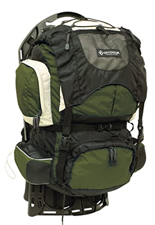 outdoor products firefly external frame pack moss - External Frame Hiking Backpack