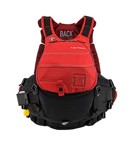 (Astral GreenJacket Life Jacket PFD for Whitewater Rescue, Sea, and Stand Up Paddle Boarding, Cherry Creek Red,)