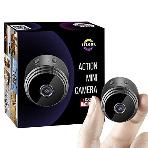 Hidden Spy Camera WiFi 1080P Mini Security Wireless cam with Night Vision, Video Recorder for Nanny/Housekeeper, Sports Action Cam with Motion Detection for Home, Car, Drone