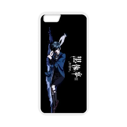 "Fayruz - iPhone 6 Rubber Cases, Black Butler Hard Phone Cover for iPhone 6 4.7"" F-i5G328"