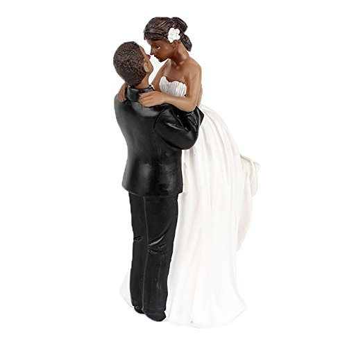 Search : yepmax Wedding Cake Toppers African American Wedding Figurine Happinest Time 6.5x3x2.3