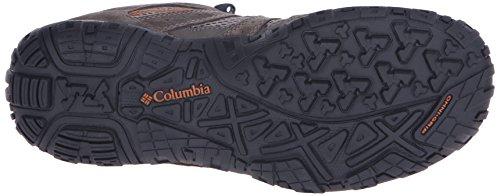 Columbia Redmond Scarpe da Trekking, Uomo Pebble, Dark Ginger