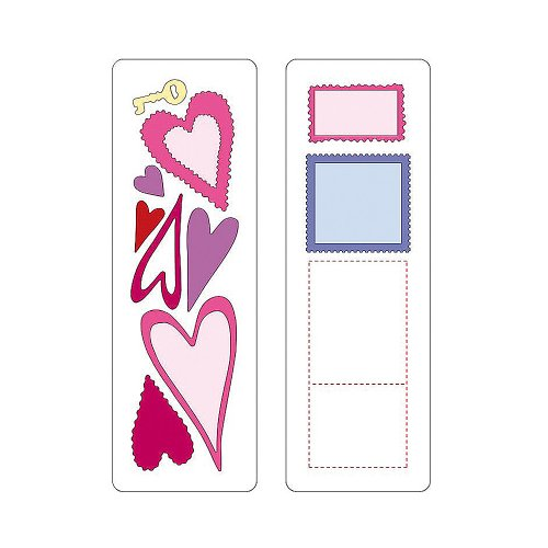 Cuttlebug 37-1115 2-by-6-Inch Dies, Set of 2, Hearts and ()