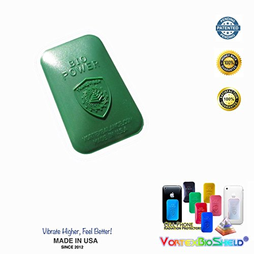 GREEN EMF Blocker - Stress Neutralizer Radiation Shield Blocker Sticker for All Cell Phones and Small Tablets – IPhone's 4s/5s/6/6+ and Tested – Removes Effect of EMF – Can Be Moved to a New Case. Does Not Interfere with Signal. by Working Vibes Research