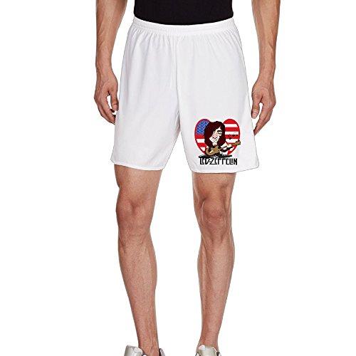 Kim Men's Unisex Shorts Household Pants For Men's Size XL White -