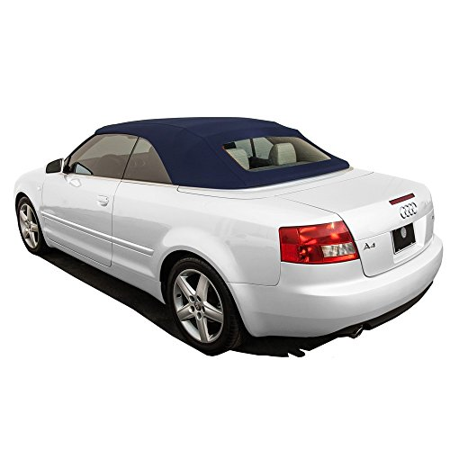 Haartz Convertible Tops (AutoBerry Audi A4 2003-2009 Convertible Top Glass Window Made from Haartz Stayfast, Blue)