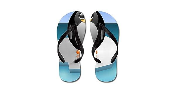 747e80ff6597c Amazon.com: Royal Lion Men's Cute Baby Penguin Rubber Flip Flops ...