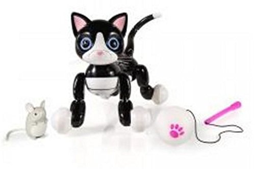 Exclusive Zoomer Kitty, Interactive Cat with Nibbles Mouse by Spin Maser