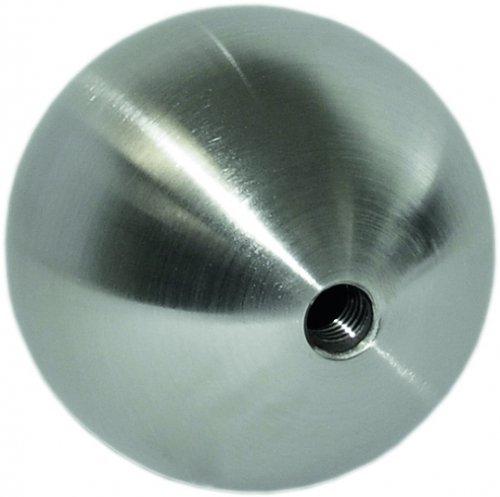 Edelstahl-Hohlkugel ø 120mm, Wandstärke 2mm, mit M10 Gewinde Wandstärke 2mm edelstahlonline24