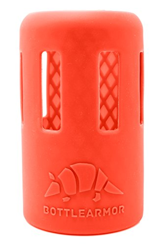 BottleArmor Protective Silicone Sleeve for Hydro Flask Water Bottles with DropShield Technology (Coral, 12 oz)