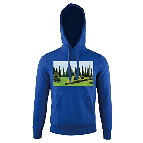Cheap  Hoodie Sweatshirt,Designed Garden With Evergreen Shrubs Boxwood,for mens