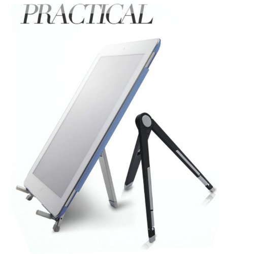 hbettertech-premium-universal-silver-compass-design-portable-mobile-stand-desktop-holderblack