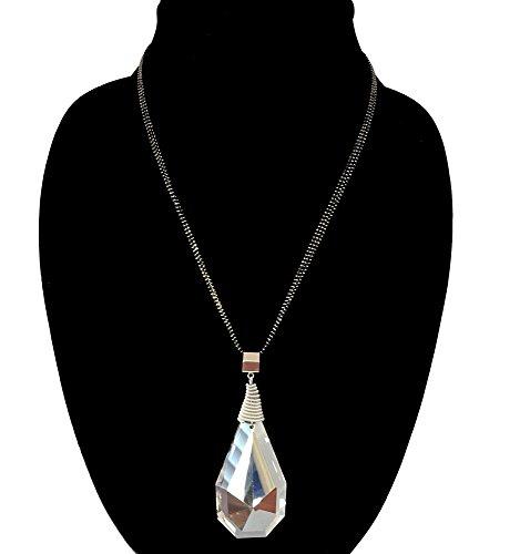 Nataliya Exaggerated Pendant Necklace (Large Watedrop (Large Teardrop Pendant Necklace)