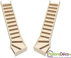 Contremarches para Escalera de molinero Noramndie 1/4 giratorio de madera de haya: Amazon.es: Bricolaje y herramientas