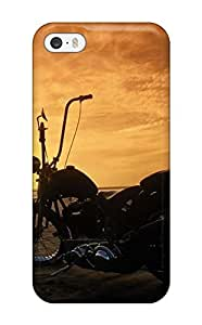 New Arrival Girls And Motorcycles KforkbV10818SpquJ Case Cover/ 5/5s Iphone Case