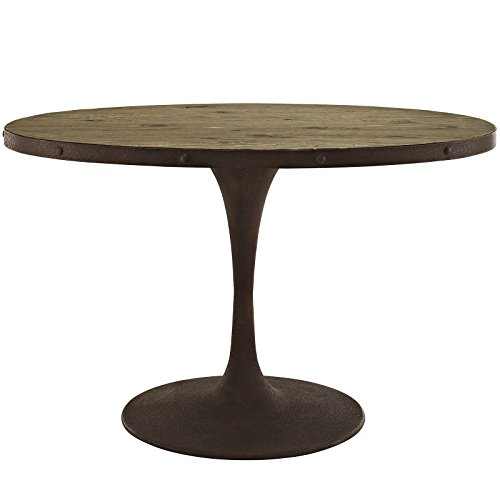 Modway Drive Oval Wood Top Dining Table, 47
