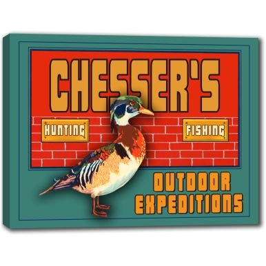 CHESSER'S Outdoor Expeditions Stretched Canvas Sign 24' x 30'