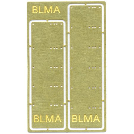 BLMA Models HO Scale Grab Iron Drill Templates