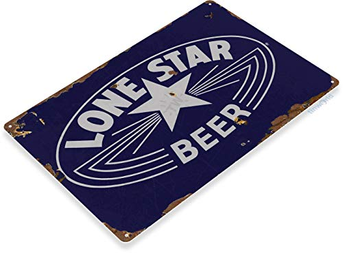 (Tinworld TIN Sign C405 Lone Star Beer Logo Rustic Retro Bar Pub Beer Brewery Sign Cottage Cave)