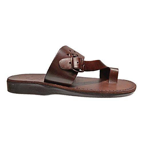 Ezra Lederen Slip-on Strap Slide Sandaal Slippers