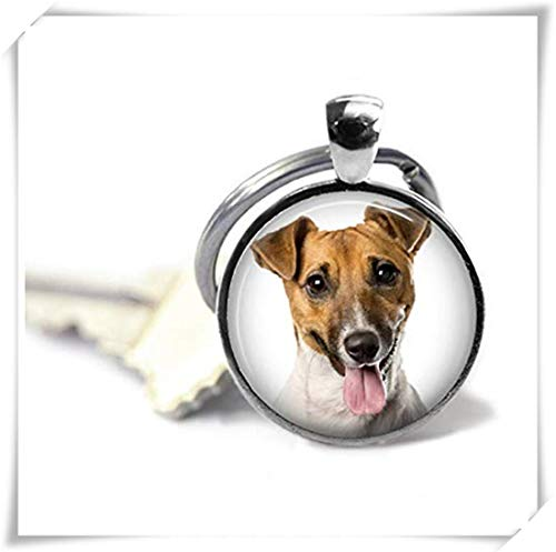 (memory Your Jack Russell Terrier Dog's Photo on a Keychain,Pure Handcrafted, Dog Lover's Gift)
