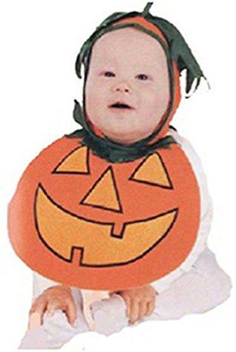 Costume Pie Man Purple Halloween (Baby Pumpkin Pie Patch Bonnet and Bib Costume 0-9)