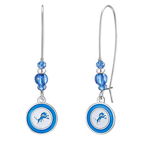 Pro Specialties Group NFL Detroit Lions Kidney Wire Hook Earrings