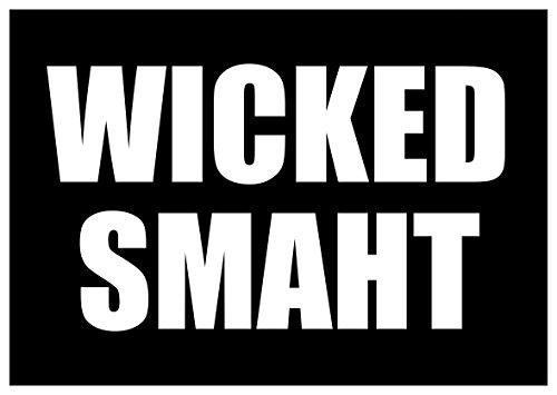New Black Comedy Sticker Wicked Smaht Smart Boston Accent Funny Joke Humor Yankee
