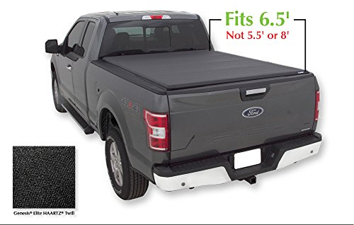 Lund 96873 Genesis Elite Roll Up Truck Bed Tonneau Cover for 2004-2018 Ford F-150; 2006-2008 Lincoln Mark LT | Fits 6.5' Bed - Lund Soft Roll