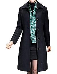 Women's Wool Trench Coat Winter Long Thick Overcoat Walker Coat