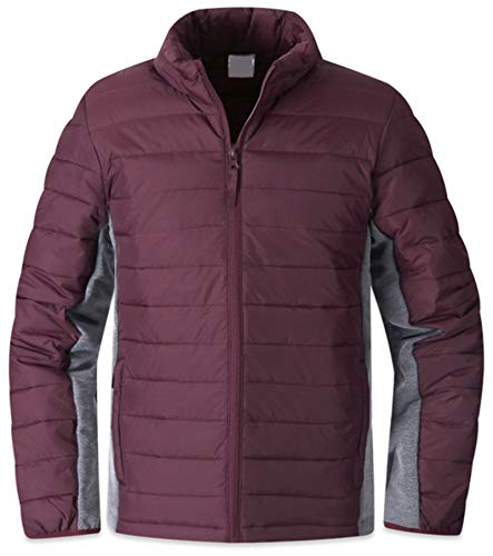 Light Parka Casual K030 Padding Outdoor Mens Jumper EnvyLook Jacket Weight Wine 5wBSqx8