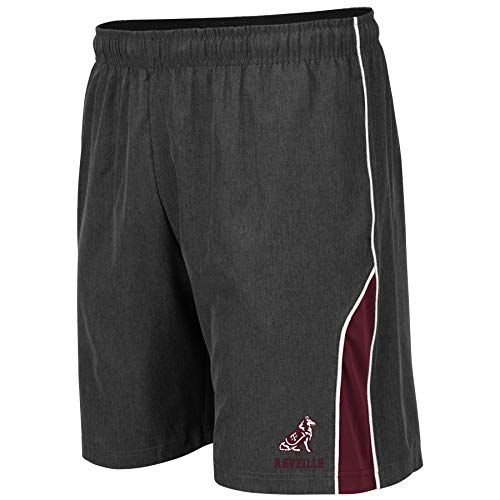 Colosseum NCAA Mens Basketball Shorts - Athletic Running Workout Short-Charcoal with Team Colors-Texas A&M Aggies-Medium