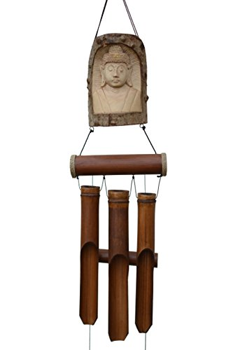 Indonesian Carving - Cohasset Gifts 634T Indonesian Buddha in Tree Bell Chime