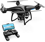 Holy Stone 2K GPS FPV RC Drone HS100 with HD Camera Live Video and GPS Return Home, Large Quadcopter with Adjustable Wide-An