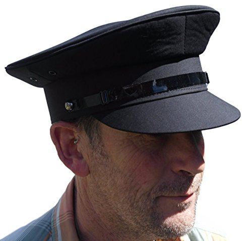 Thorness Grey Chauffeur Style hat - Size 58cm